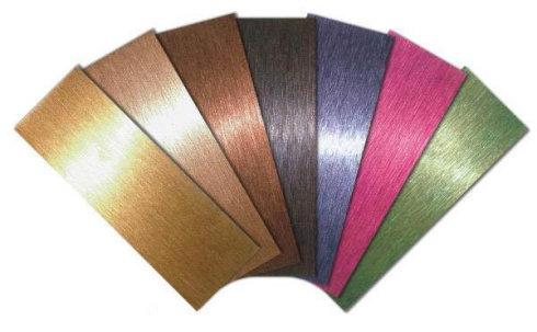不锈钢表面加工处理之着色工艺
